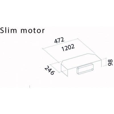 Falmec 2M SLIM Keskeny motor