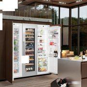 Liebherr SBSWdf 99I5 Beépíthető side-by-side hűtőszekrény, bútorlap nélkül