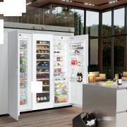 Liebherr SBSWgw 99I5 Beépíthető side-by-side hűtőszekrény, bútorlap nélkül
