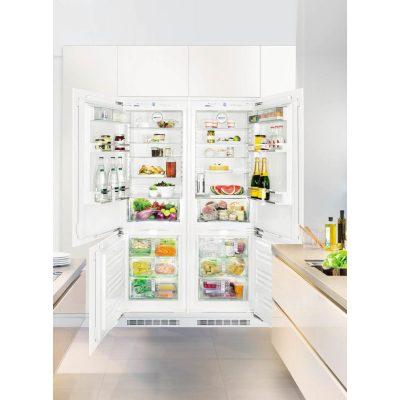 Liebherr SBS 66I2 Beépíthető side-by-side hűtőszekrény, bútorlap nélkül