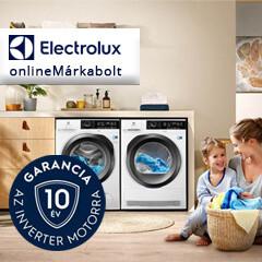 10 év garancia az Electrolux mosógépek, szárítógépek és mosó-szárító gépek inverter motorjára