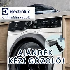 Ajándék Electrolux kézi ruhagőzölő bármely mosógép, szárítógép és mosó-szárítógép mellé!
