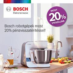 Bosch MUM5 és MUM9 robotgépek 20% pénzvisszafizetéssel