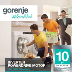 10 év motorgarancia a Gorenje PowerDrive mosógépekre