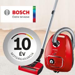 10 Év motorgarancia Bosch vezetékes porszívókra