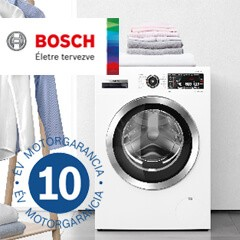 Bosch EcoSilence Drive mosógépekre 10 év motorgarancia!