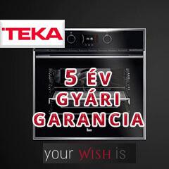 5 év gyári garancia a Teka WISH családra!