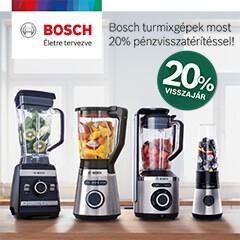 20% visszajár Bosch turmix gépekre