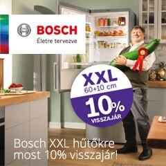 Bosch XXL Hűtők vételárából 10 % visszajár