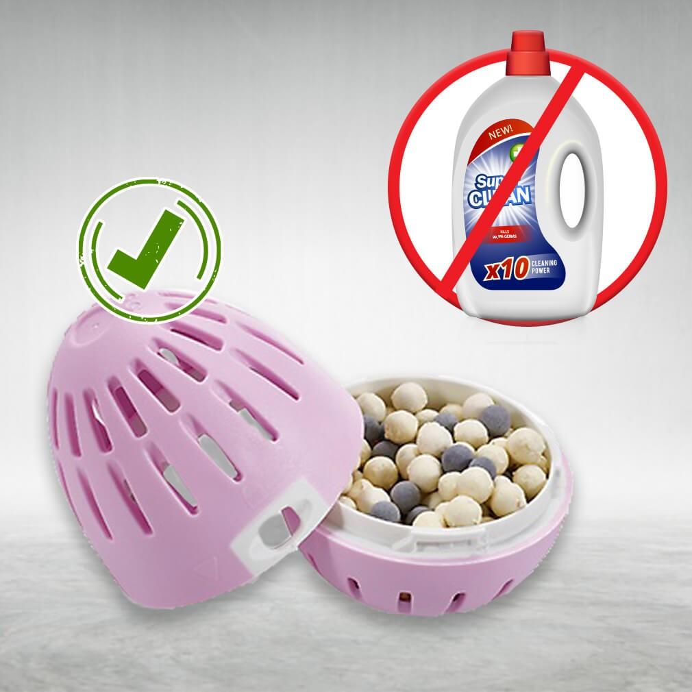 Mosószer helyett használjon vegyszermentes mosótojást, 210 mosáshoz (Tavaszi virág illat)