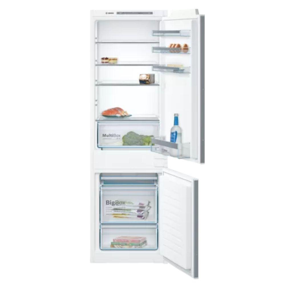 Bosch KIV86VSF0 Beépíthető Alulfagyasztós hűtőszekrény, bútorlap nélkül